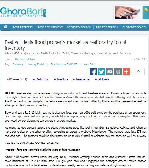 Festivals deals flood property market as realtors try to cut inventory