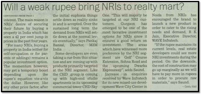 Will a weak rupee bring NRIs to realty mart?
