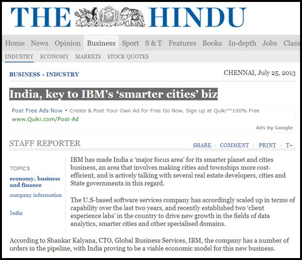 India, key to IBM's 'smarter cities' biz