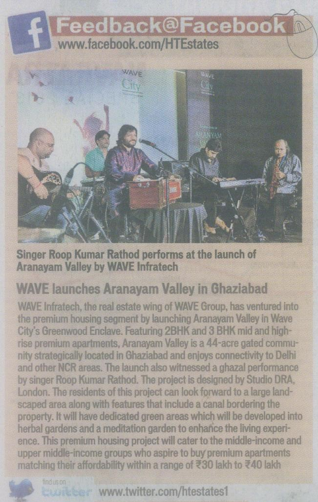 Wave launches Aranayam Valley in Ghaziabad