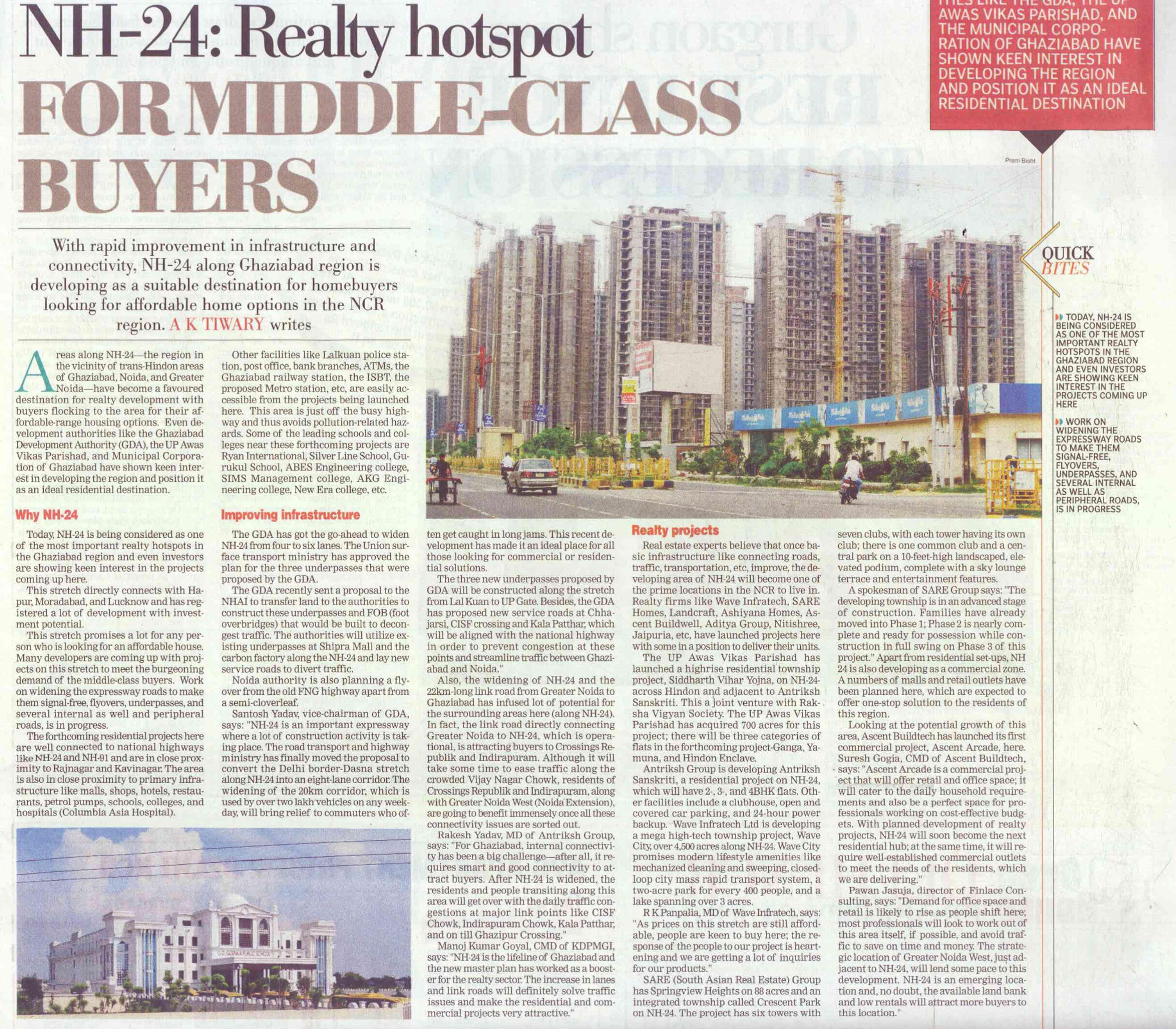 NH-24 Realty hotspot for middle class buyers