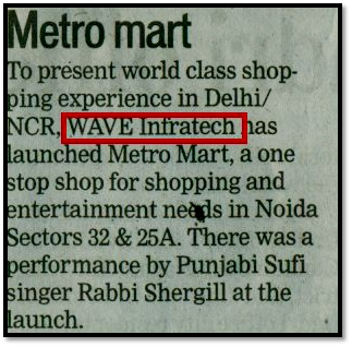 WAVE Infratech ka Edenia project launch