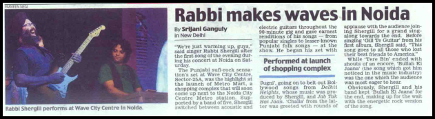 Rabbi makes waves in Noida