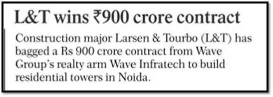 L&T wins Rs 900 crore contract