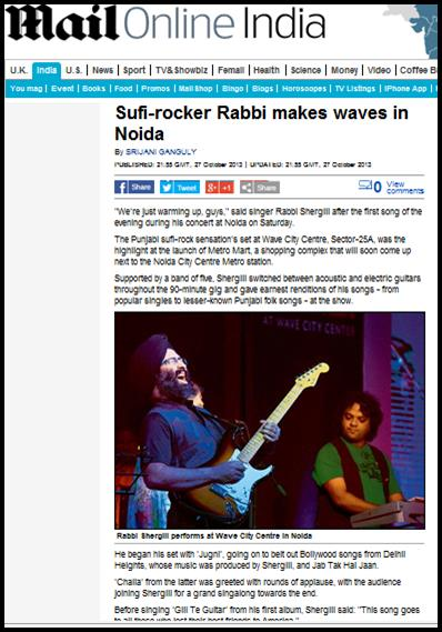 Sufi-rocker Rabbi makes waves in Noida