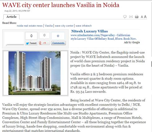 WAVE City Center launches Vasilia, a premium residency project