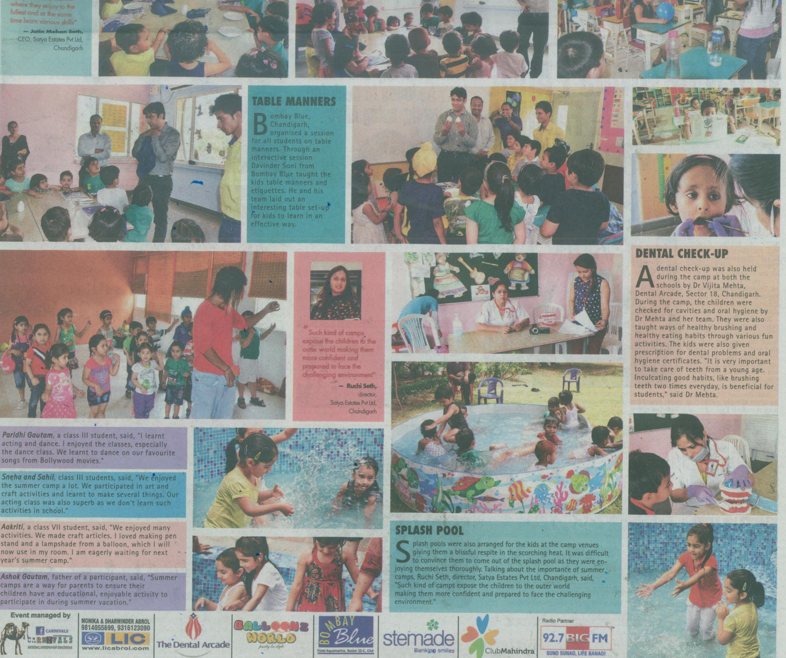 TOI and Wave Estate organized 15 day summer camp at Northridge School.