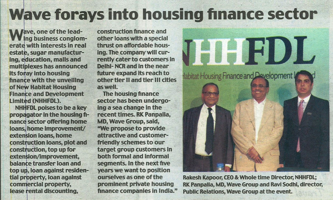 Wave forays into housing finance sector