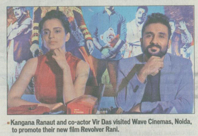 Kangana Ranaut & Vir Das visit to Wave Cinemas