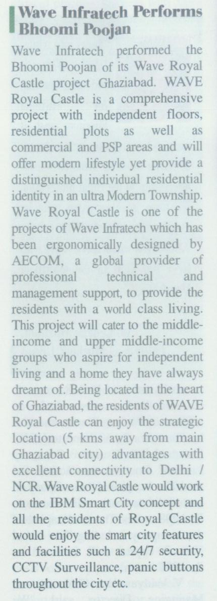 Wave Infratech Performs Bhoomi Poojan