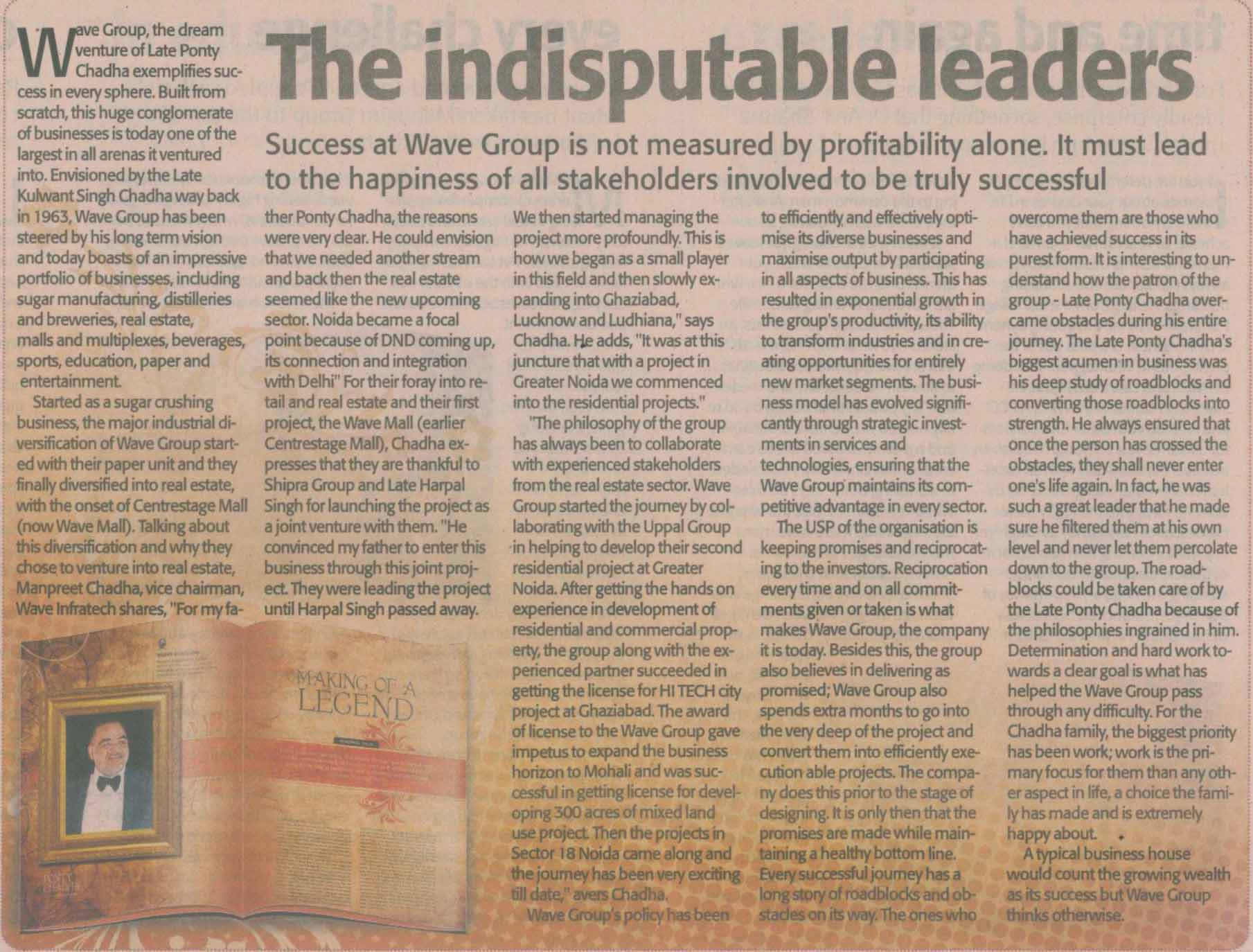 The Indisputable Leaders