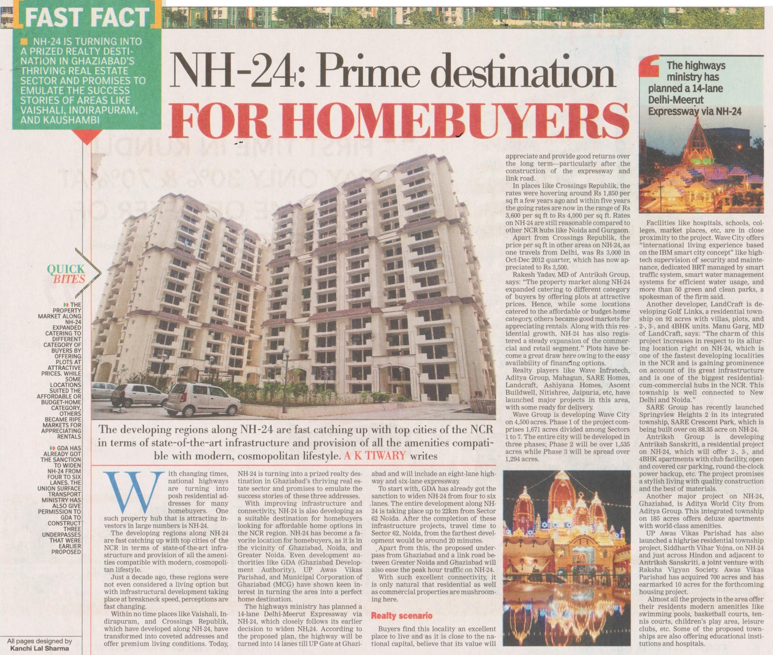 NH-24 prime destination for homebuyers